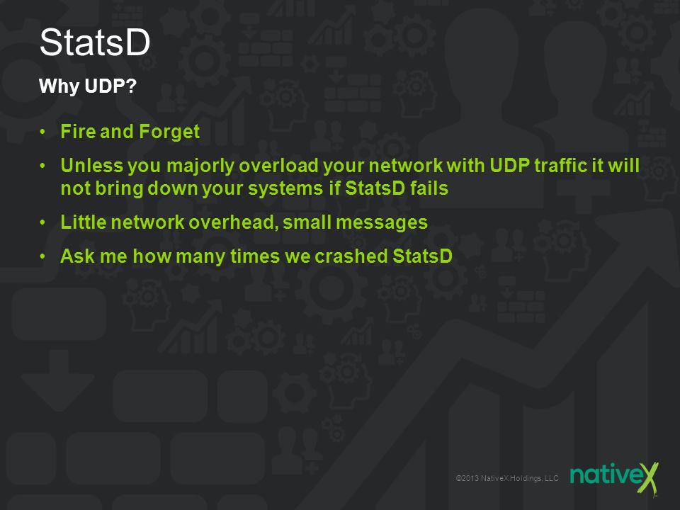 ©2013 NativeX Holdings, LLC StatsD Why UDP.
