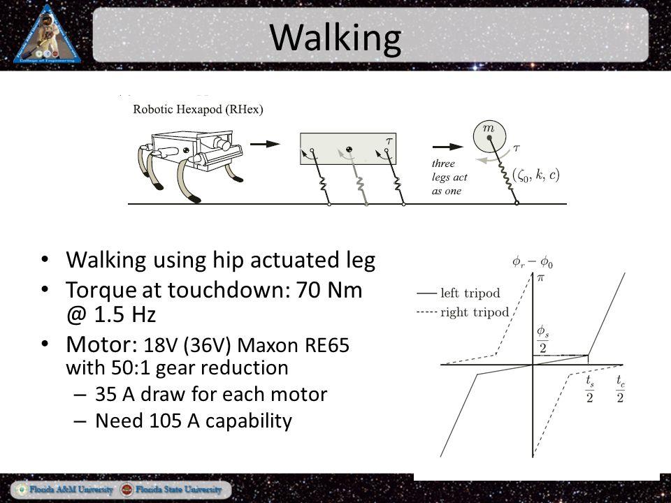 Leg Design Semi-circular legs 0.297 m in Diameter, 9cm wide Need Radial Stiffness of 15,905 N/m – Pseudo Rigid Body Model w = 0.09m; t = 0.00518m