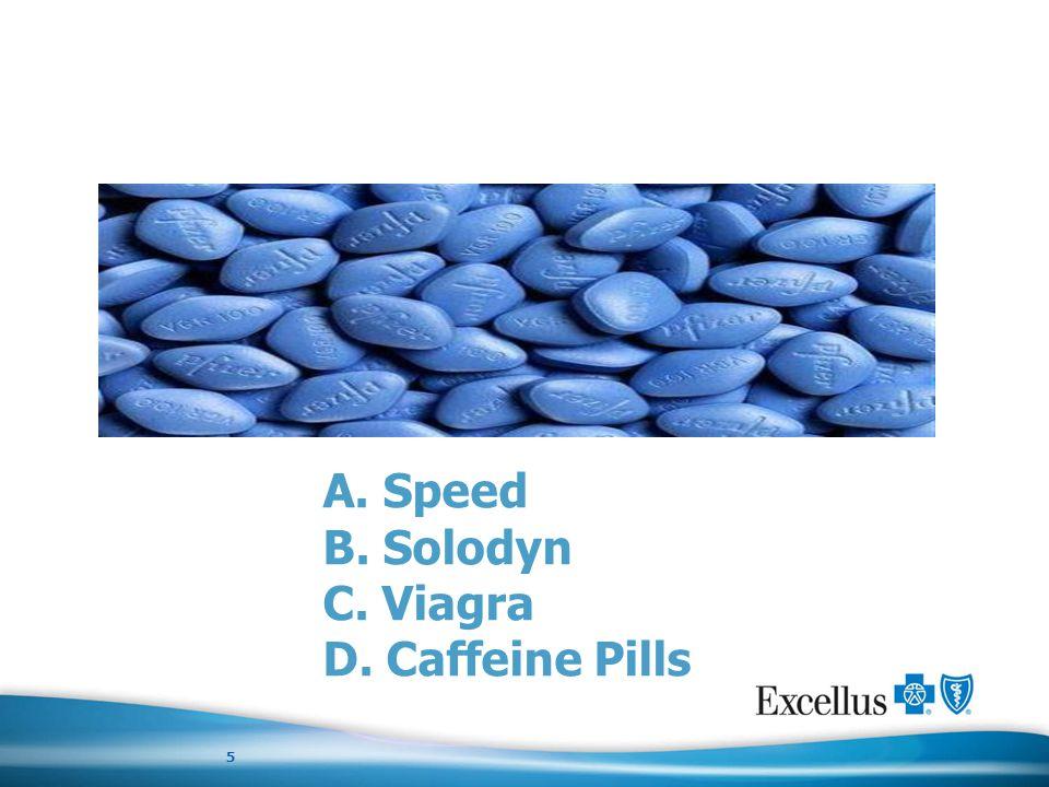 Quiz A. Speed B. Solodyn C. Viagra D. Caffeine Pills 5