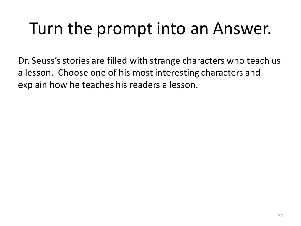 Turn the prompt into an Answer. Dr.