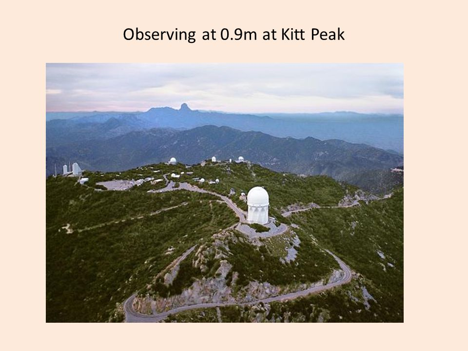 Observing at 0.9m at Kitt Peak