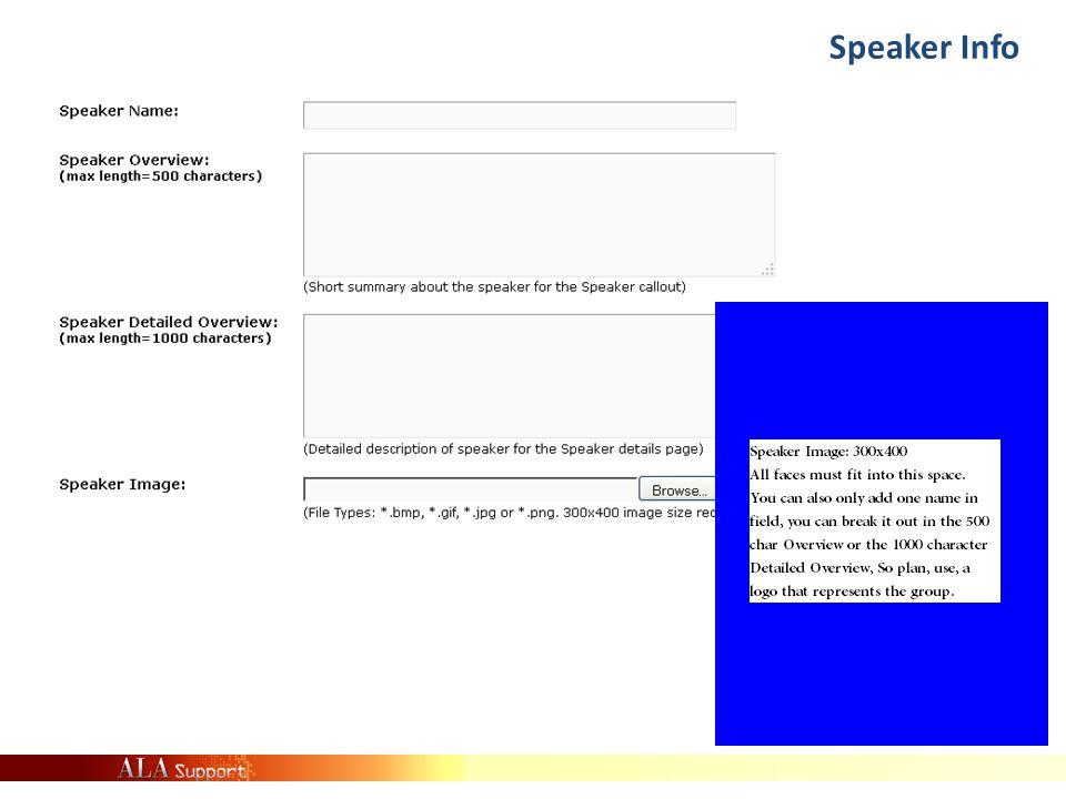 Speaker Info