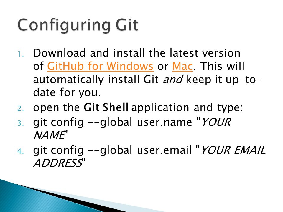 1. Download and install the latest version of GitHub for Windows or Mac.