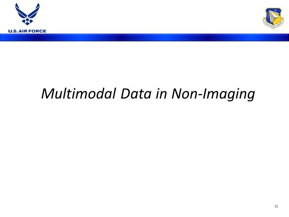 Multimodal Data in Non-Imaging 21