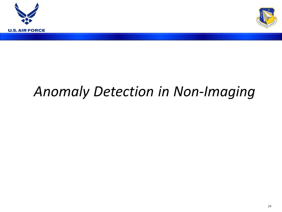 24 Anomaly Detection in Non-Imaging
