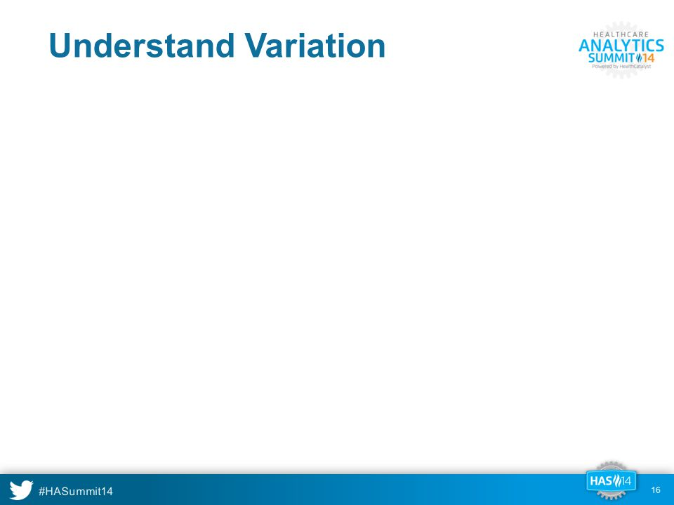#HASummit14 16 Understand Variation