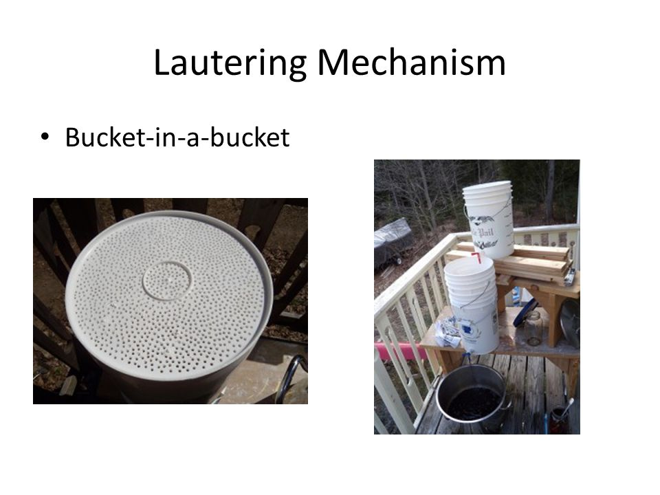 Lautering Mechanism Bucket-in-a-bucket