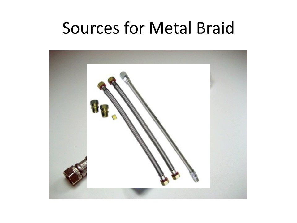 Sources for Metal Braid