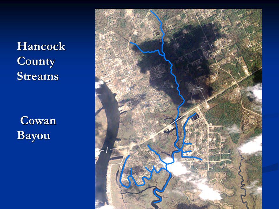 Hancock County Streams Cowan Bayou Cowan Bayou