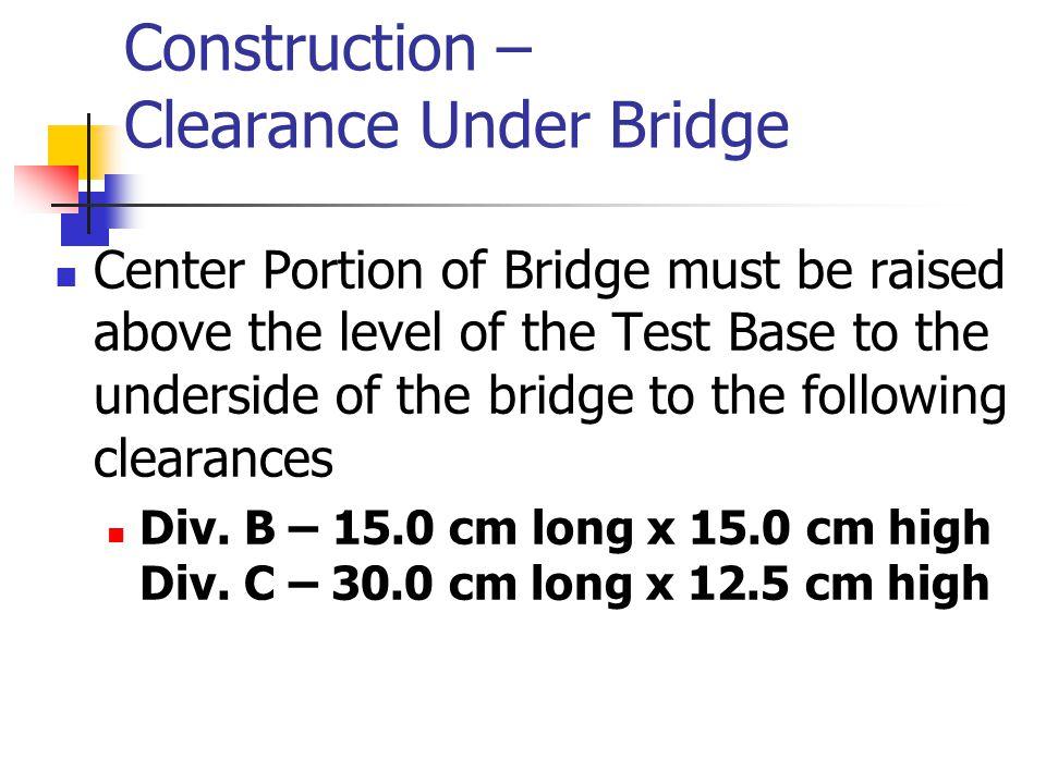 National Bridge Examples Placing the loading block on the bridge.