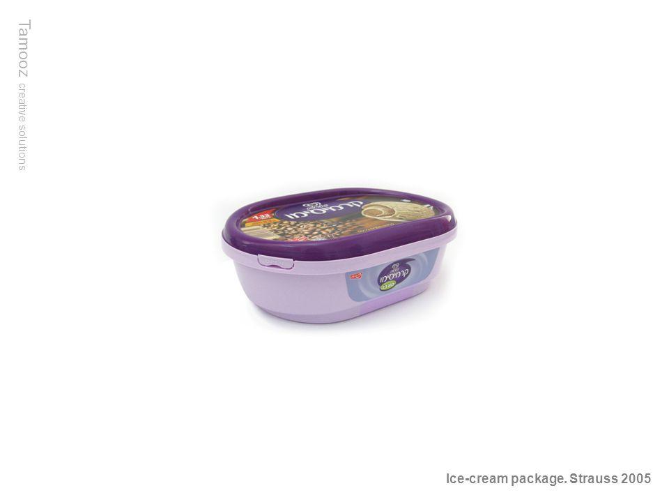 Tamooz creative solutions Ice-cream package. Strauss 2005