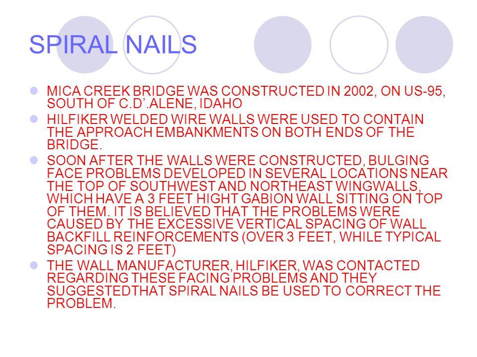 SPIRAL NAILS NAIL IN HAMMER
