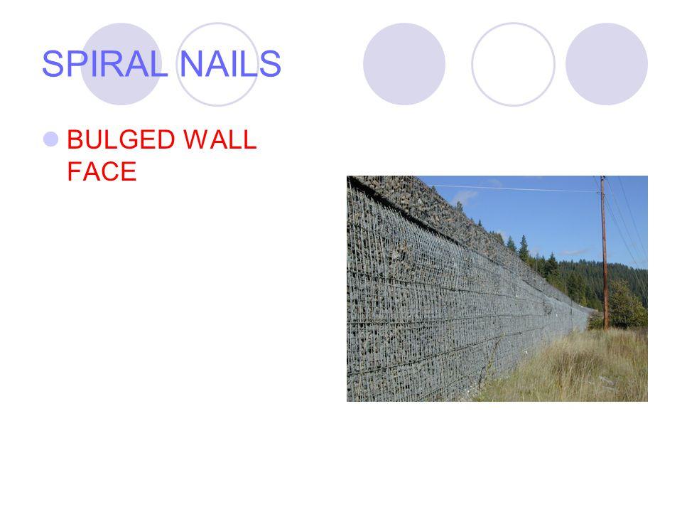 SPIRAL NAILS NAILED WALL FACE