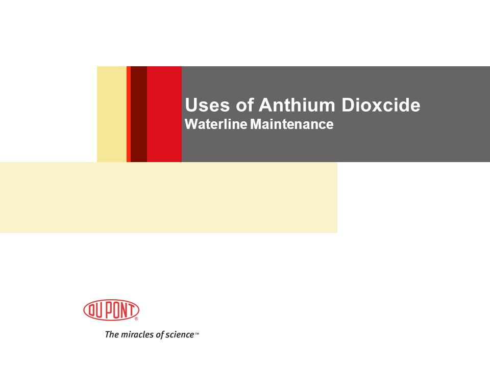 Uses of Anthium Dioxcide Waterline Maintenance