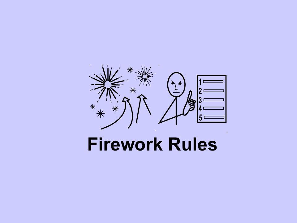 1. Keep fireworks