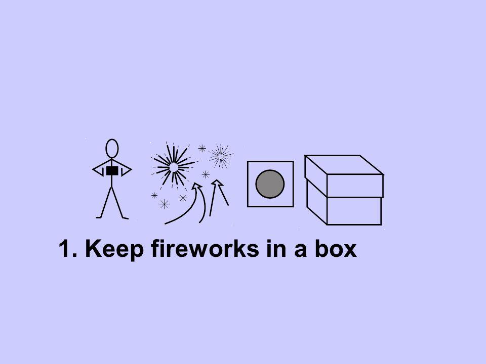 1. Keep fireworks in a box