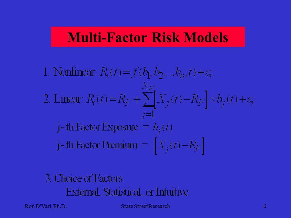 Ron D Vari, Ph.D.State Street Research6 Multi-Factor Risk Models