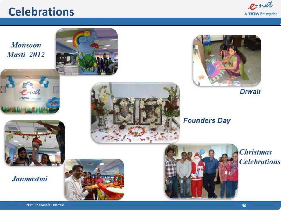 e-Nxt Financials Limited 42 Celebrations