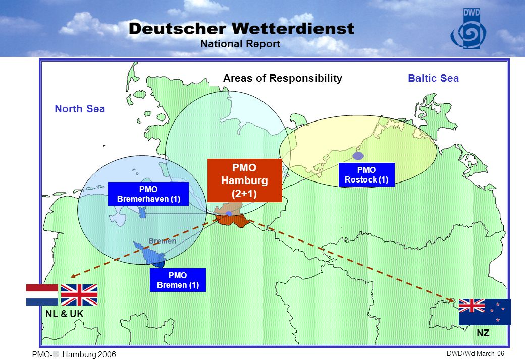 """VOSClim - Project 11 VOS are presently engaged Recruiting policy: - scheduled calls at German ports - observation quality in the past - interested observers National Report  Problem: """"Self recruiting VOS PMO-III Hamburg 2006DWD/Wd March 06"""