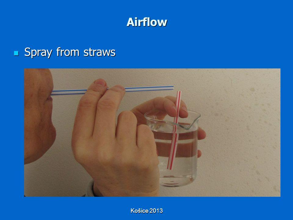 Košice 2013 Airflow Spray from straws Spray from straws