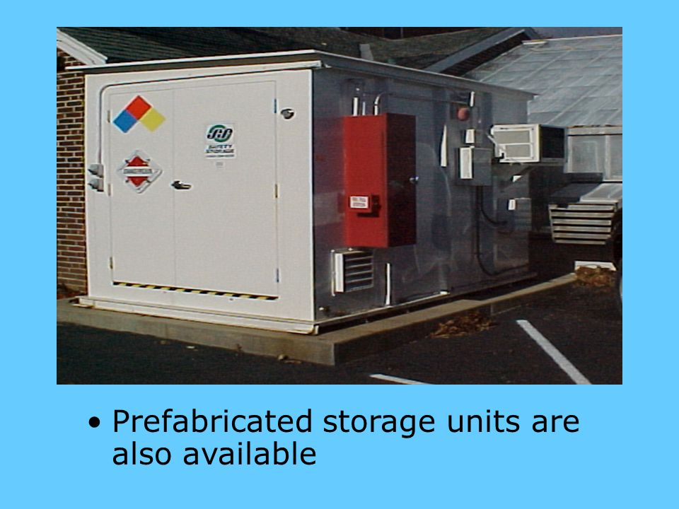 Prefabricated storage units are also available