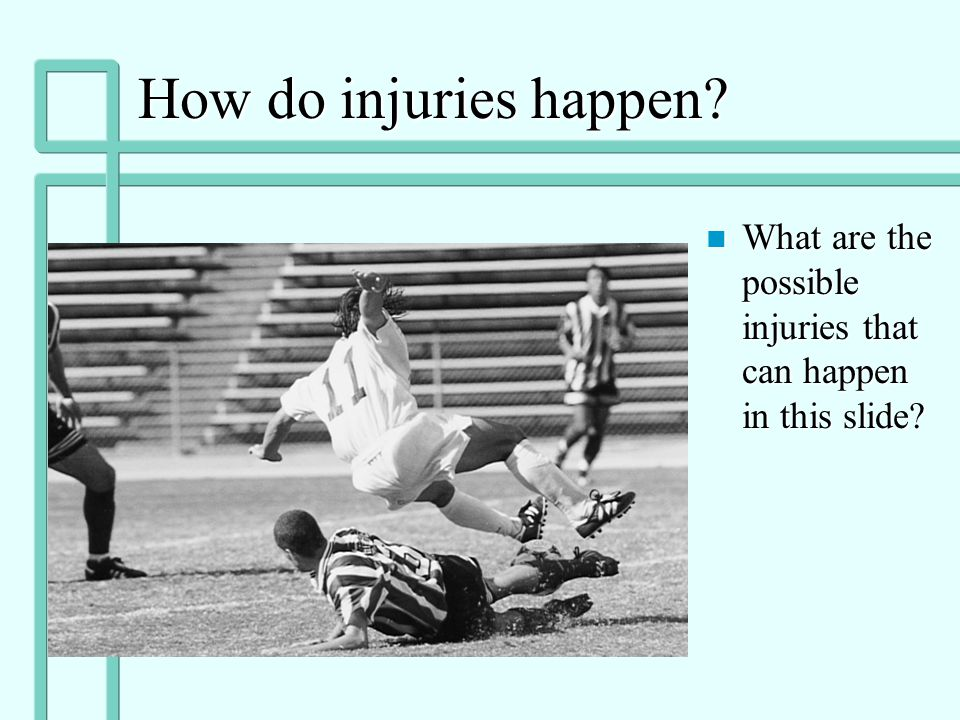 Types of Injuries continued n Muscle Cramps/spasm: muscle contraction/tightness due to fatigue or injury n Myositis Ossificans: calcification of muscl