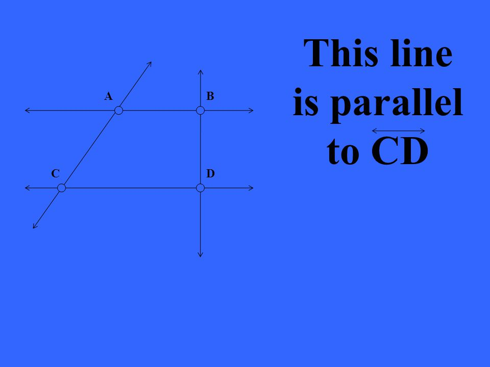 This line is parallel to CD AB DC