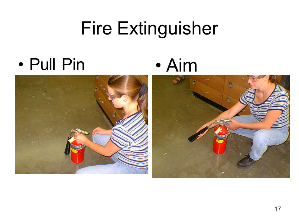 Fire Extinguisher Pull Pin Aim 17