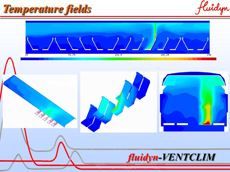 fluidyn-VENTCLIM Temperature fields