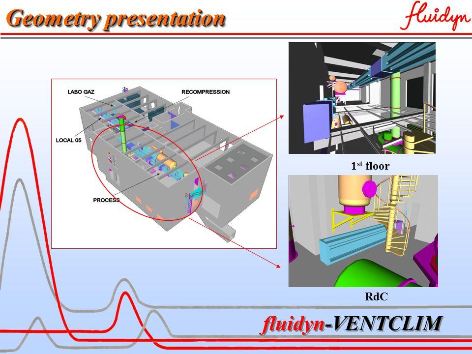 fluidyn-VENTCLIM 1 st floor RdC Geometry presentation