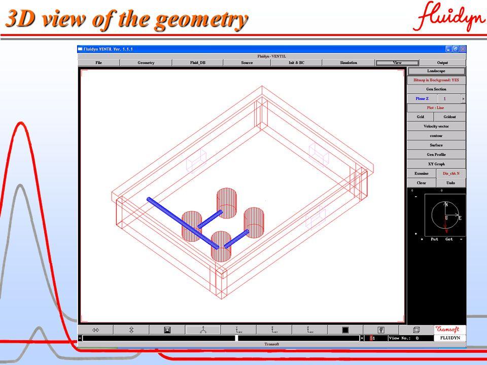 fluidyn-VENTCLIM 3D view of the geometry