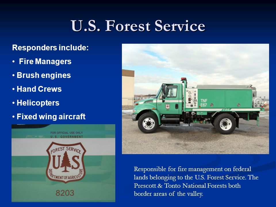 Bureau of Indian Affairs Responders include: Fire Managers Brush engines Hand Crews Helicopters Fixed wing aircraft Responsible for fire management on sovereign tribal lands under the Bureau of Indian Affairs.
