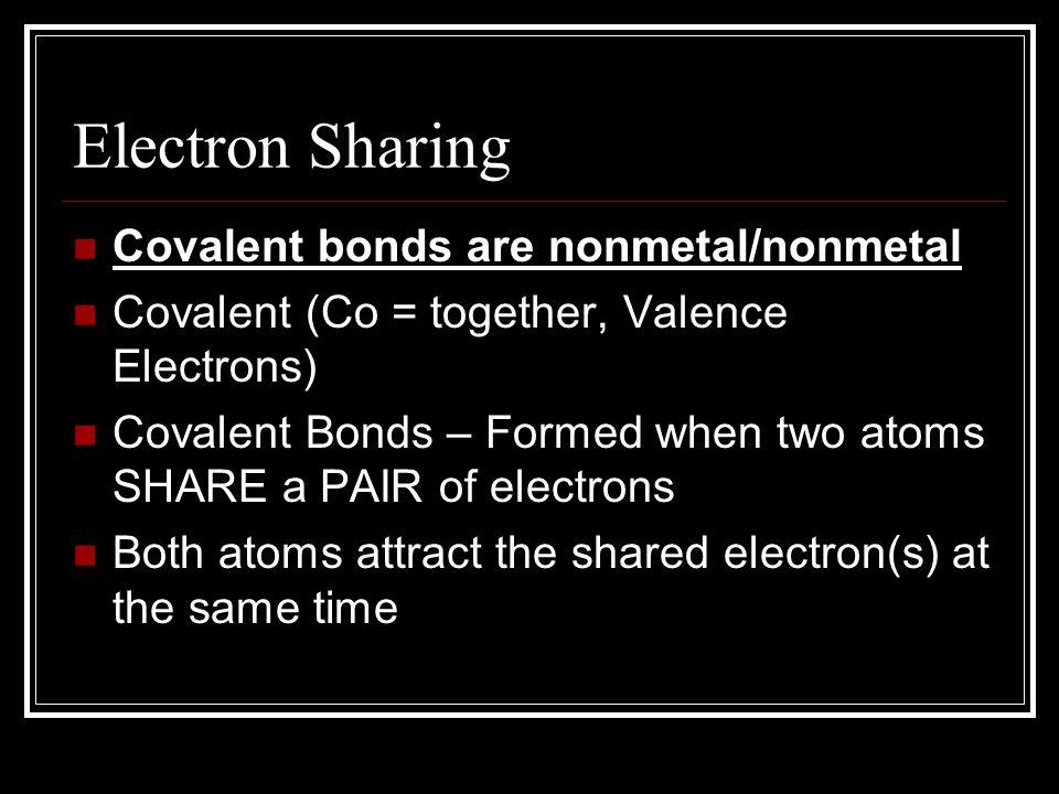 Covalent Bonds Chapter 9