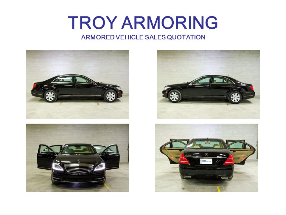 TROY ARMORING ARMORED VEHICLE SALES QUOTATION