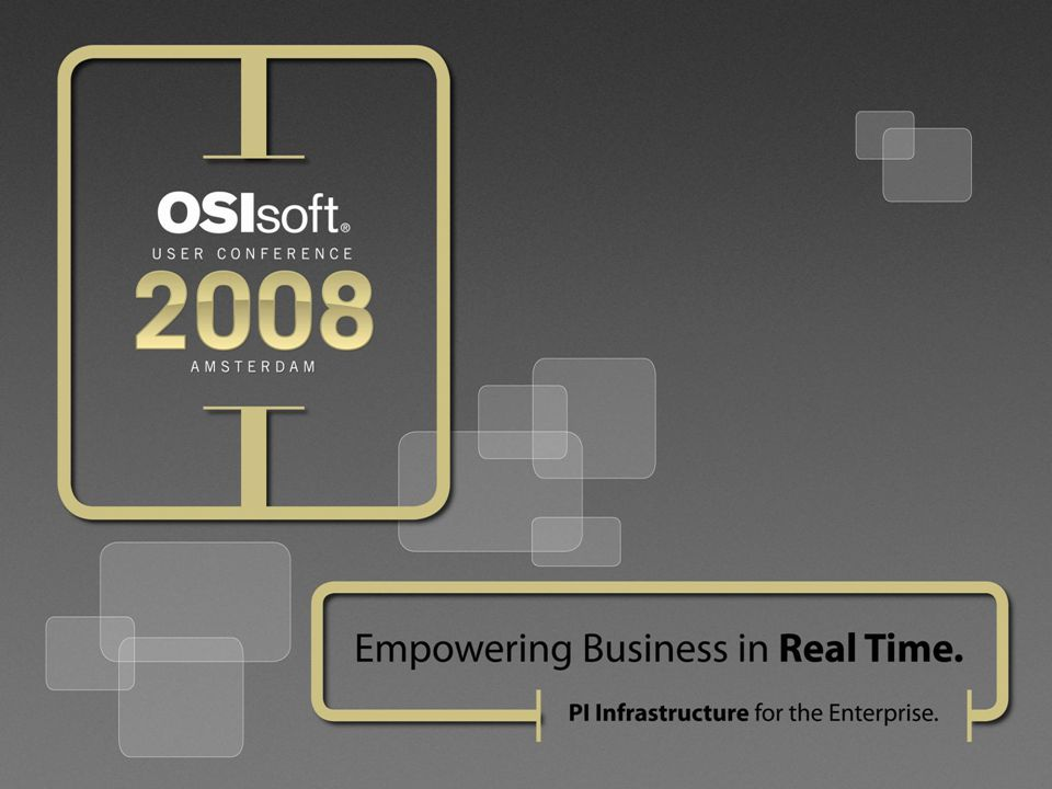 32 © 2008 OSIsoft, Inc. | Company Confidential Dashboard