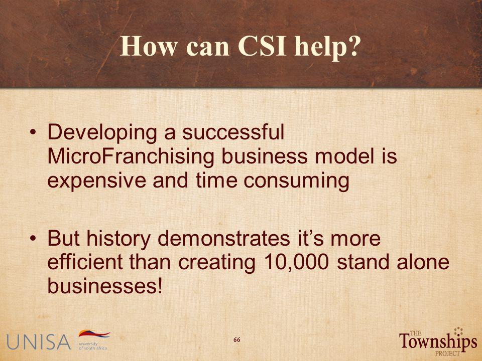 66 How can CSI help.
