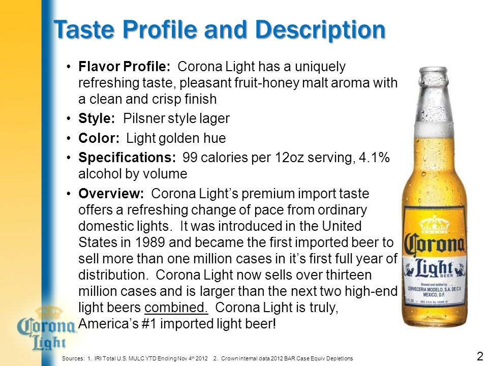 Featuring a $4 Btl of Corona Light Delivers More PROFIT.