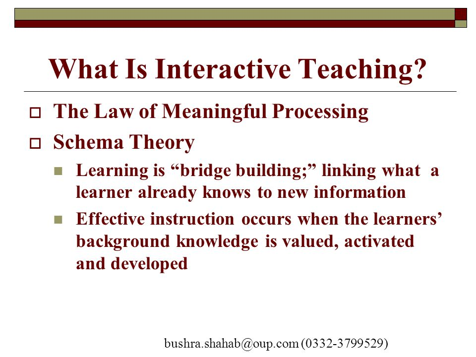 What Is Interactive Teaching.
