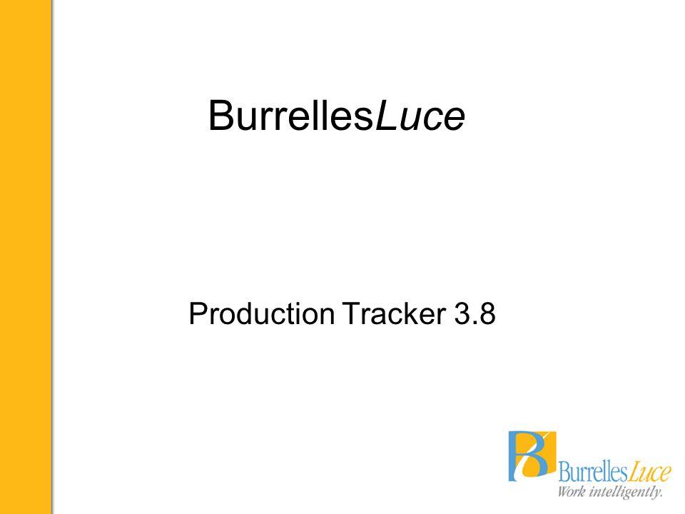 BurrellesLuce Production Tracker 3.8
