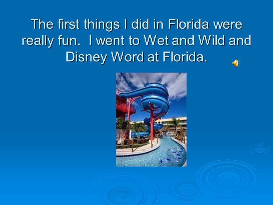 The Day I Went to Florida By Muhammad