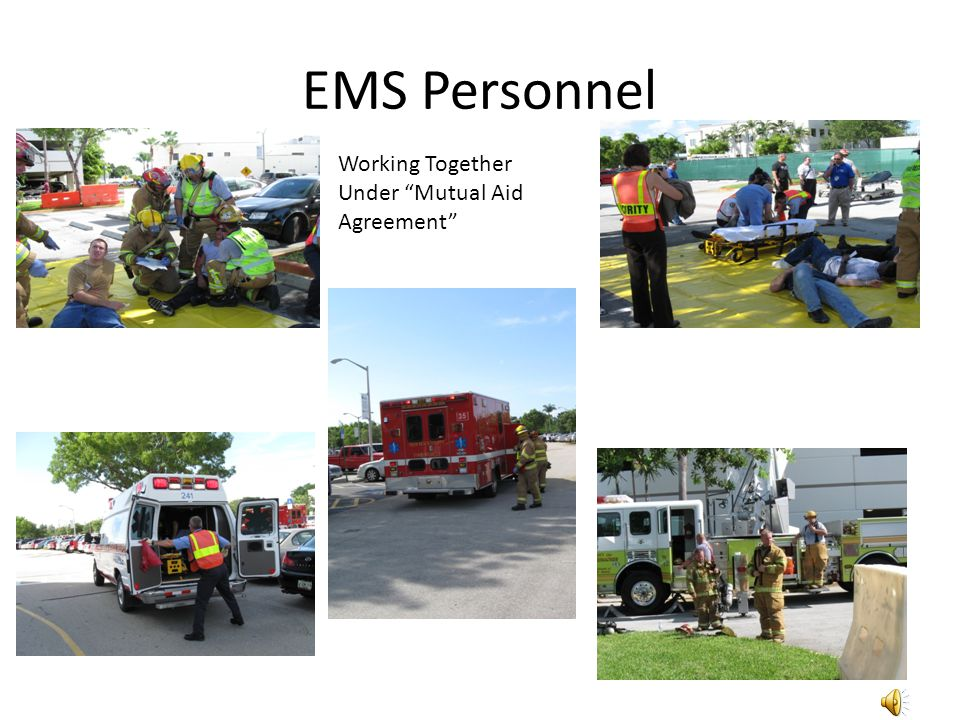 EMS Personnel Working Together Under Mutual Aid Agreement