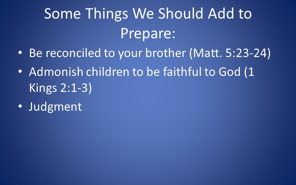 Hezekiah was blessed to have a warning! It is quite possible we will not have one.