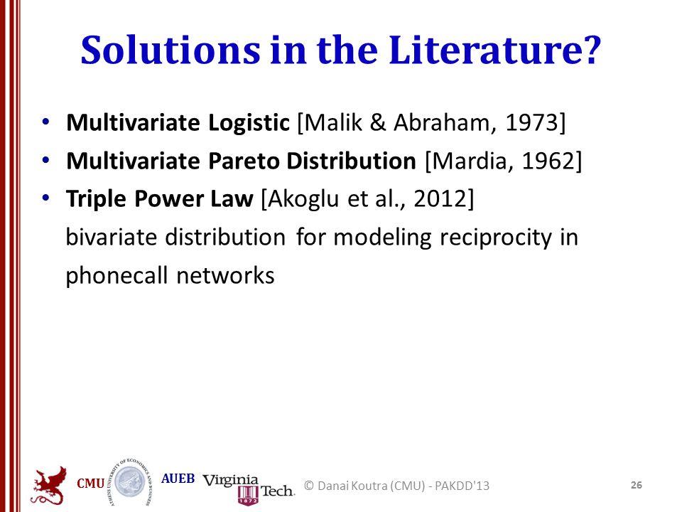 CMU AUEB Solutions in the Literature.