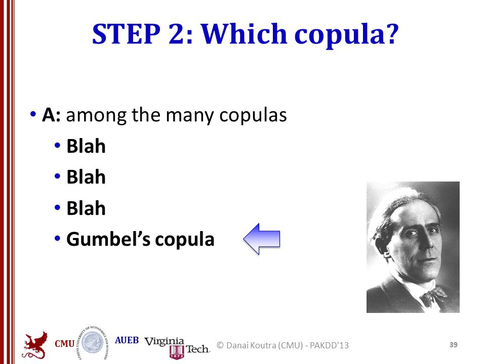 CMU AUEB STEP 2: Which copula.