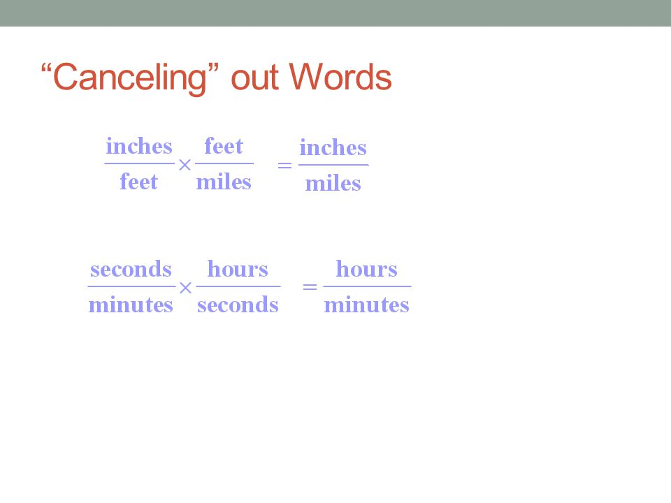 """Canceling"" out Words"