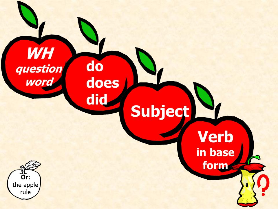 DoDoes Did Forming WH-Questions with Do, Does, or Did Compare: Do you read every day.