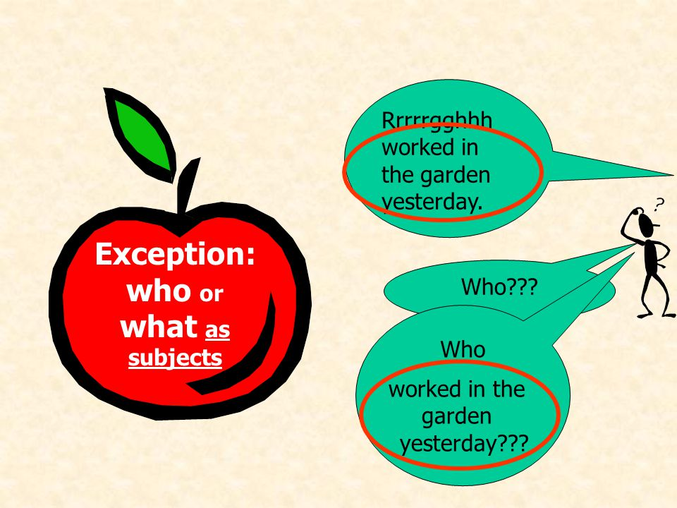 WH d S V/bf The apple rule: