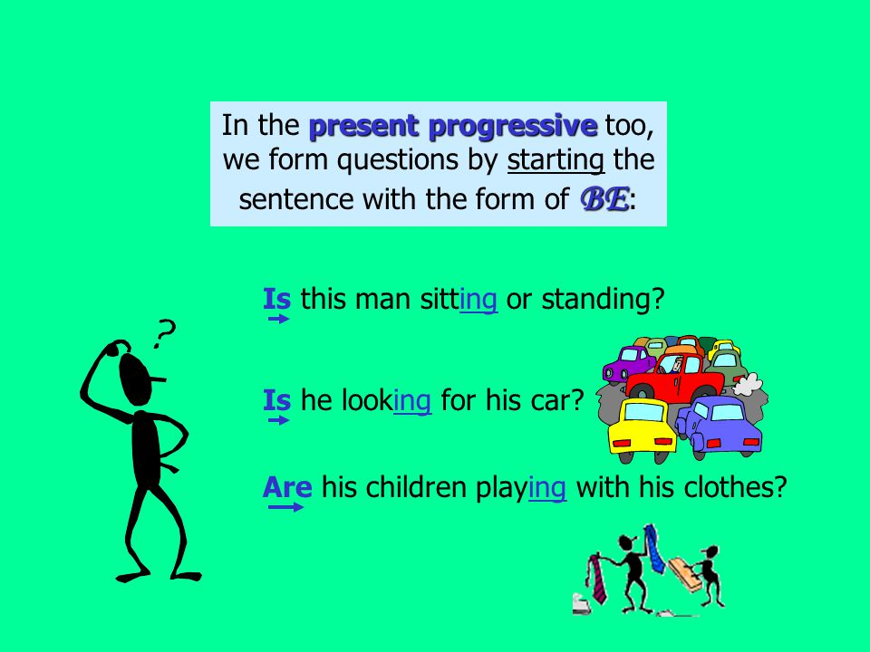 If there is a BE verb in the sentence, start the question with the form of BE : Am I right.