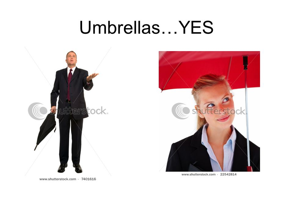 Umbrellas…YES
