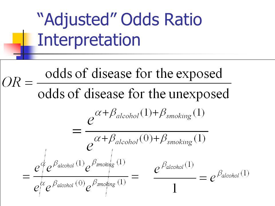 Adjusted Odds Ratio Interpretation